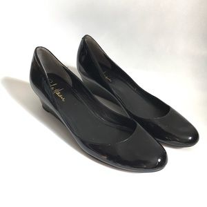 Cole Haan patent ballerina wedges with Nike Air